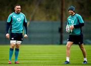 8 March 2019; Jack Conan, left, and Ross Byrne during Ireland Rugby squad training at Carton House in Maynooth, Kildare. Photo by Ramsey Cardy/Sportsfile