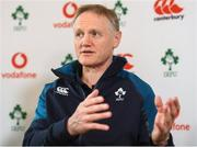 8 March 2019; Head coach Joe Schmidt during an Ireland Rugby press conference at Carton House in Maynooth, Kildare. Photo by Ramsey Cardy/Sportsfile