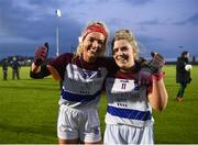 8 March 2019; Orla O'Dwyer, left, and Laurie Ryan of UL celebrate following the Gourmet Food Parlour O'Connor Cup Semi-Final match between University of Limerick and Queens University Belfast at the GAA Centre of Excellence in Abbotstown, Dublin. Photo by David Fitzgerald/Sportsfile