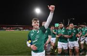 8 March 2019; Jake Flannery of Ireland celebrates after the U20 Six Nations Rugby Championship match between Ireland and France at Irish Independent Park in Cork. Photo by Matt Browne/Sportsfile