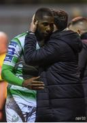 8 March 2019; Daniel Carr of Shamrock Rovers and Shamrock Rovers manager Stephen Bradley during the SSE Airtricity League Premier Division match between St Patrick's Athletic and Shamrock Rovers at Richmond Park in Dublin. Photo by Stephen McCarthy/Sportsfile