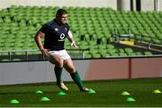9 March 2019; Tadhg Furlong during the Ireland Rugby captain's run at the Aviva Stadium in Dublin. Photo by Ramsey Cardy/Sportsfile