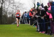 9 March 2019; Sarah Healy of Holy Child Killiney, Dublin, on her way to winning the Senior Girls event during the Irish Life Health All Ireland Schools Cross Country at Clongowes Wood College in Clane, Co Kildare. Photo by Piaras Ó Mídheach/Sportsfile