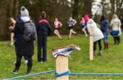 9 March 2019; A general view of an abandoned running spike during the Irish Life Health All Ireland Schools Cross Country at Clongowes Wood College in Clane, Co Kildare. Photo by Piaras Ó Mídheach/Sportsfile