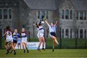 9 March 2019; Shauna Kelly of UL in action against Molly Lamb of UCD during the Gourmet Food Parlour O'Connor Cup Final between University of Limerick and University College Dublin at DIT Grangegorman, in Grangegorman, Dublin. Photo by Eóin Noonan/Sportsfile