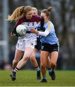 9 March 2019; Louise Ward of UL in action against Chloe Foxe of UCD during the Gourmet Food Parlour O'Connor Cup Final between University of Limerick and University College Dublin at DIT Grangegorman, in Grangegorman, Dublin. Photo by Eóin Noonan/Sportsfile