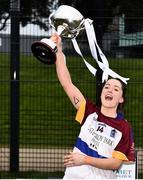 9 March 2019; Eimear Scally of UL lifting the cup after the Gourmet Food Parlour O'Connor Cup Final between University of Limerick and University College Dublin at DIT Grangegorman, in Grangegorman, Dublin. Photo by Eóin Noonan/Sportsfile