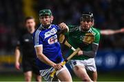 9 March 2019; Sean Downey of Laois in action against Conor Boylan of Limerick during the Allianz Hurling League Division 1 Quarter-Final match between Laois and Limerick at O'Moore Park in Portlaoise, Laois. Photo by Stephen McCarthy/Sportsfile