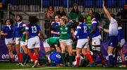 9 March 2019; Alison Miller of Ireland celebrates her side's first try during the Women's Six Nations Rugby Championship match between Ireland and France at Energia Park in Donnybrook, Dublin. Photo by Ramsey Cardy/Sportsfile