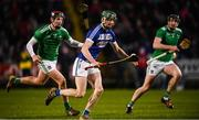 9 March 2019; Aaron Dunphy of Laois in action against David Dempsey, left, and Declan Hannon of Limerick during the Allianz Hurling League Division 1 Quarter-Final match between Laois and Limerick at O'Moore Park in Portlaoise, Laois. Photo by Stephen McCarthy/Sportsfile
