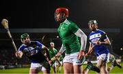 9 March 2019; Barry Nash of Limerick in action against John Lennon, left, and Aaron Dunphy of Laois during the Allianz Hurling League Division 1 Quarter-Final match between Laois and Limerick at O'Moore Park in Portlaoise, Laois. Photo by Stephen McCarthy/Sportsfile
