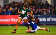 9 March 2019; Sene Naoupu of Ireland is tackled by Pauline Bourdon of France during the Women's Six Nations Rugby Championship match between Ireland and France at Energia Park in Donnybrook, Dublin. Photo by Ramsey Cardy/Sportsfile