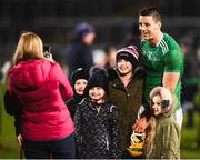 9 March 2019; Dan Morrissey of Limerick poses for a photo with young supporters after the Allianz Hurling League Division 1 Quarter-Final match between Laois and Limerick at O'Moore Park in Portlaoise, Laois. Photo by Stephen McCarthy/Sportsfile