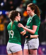 9 March 2019; Anna Caplice, left, and Aoife McDermott of Ireland following their defeat in the Women's Six Nations Rugby Championship match between Ireland and France at Energia Park in Donnybrook, Dublin. Photo by Ramsey Cardy/Sportsfile