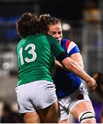 9 March 2019; Romane Menager of France is tackled by Enya Breen of Ireland during the Women's Six Nations Rugby Championship match between Ireland and France at Energia Park in Donnybrook, Dublin. Photo by Ramsey Cardy/Sportsfile