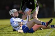 10 March 2019; Shane Bennett of Waterford passes the ball backwards close to the endline during the Allianz Hurling League Division 1B Round 5 match between Waterford and Galway at Walsh Park in Waterford. Photo by Piaras Ó Mídheach/Sportsfile