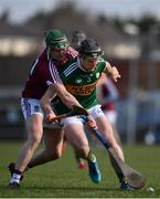 10 March 2019; Bryan Murphy of Kerry in action against Darragh Clinton of Westmeath during the Allianz Hurling League Division 2A Final match between Westmeath and Kerry at Cusack Park in Ennis, Clare. Photo by Sam Barnes/Sportsfile