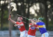 10 March 2019; Bill Cooper, left, and Aidan Walsh of Cork in action against Noel McGrath of Tipperary during the Allianz Hurling League Division 1A Round 5 match between Cork and Tipperary at Páirc Uí Rinn in Cork. Photo by Stephen McCarthy/Sportsfile