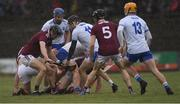 10 March 2019; Seán Loftus of Galway gathers possession during the Allianz Hurling League Division 1B Round 5 match between Waterford and Galway at Walsh Park in Waterford. Photo by Piaras Ó Mídheach/Sportsfile