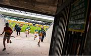 10 March 2019; Players make their way back to the dressing room at half time during the Allianz Hurling League Division 1B Relegation Play-off match between Offaly and Carlow at Bord na Móna O'Connor Park in Tullamore, Offaly. Photo by Eóin Noonan/Sportsfile