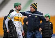 10 March 2019; Eooghan Cahill of Offaly is consoled by his father Gary following the Allianz Hurling League Division 1B Relegation Play-off match between Offaly and Carlow at Bord na Móna O'Connor Park in Tullamore, Offaly. Photo by Eóin Noonan/Sportsfile