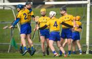 10 March 2019; Roscommon players, from left, Alan Moore, Cathal Dolan, Padraig Kelly, Paul Kenny and Conor Mulry celebrate following the Allianz Hurling League Division 3A Final match between Roscommon and Armagh at Páirc Tailteann in Navan, Meath. Photo by Tom Beary/Sportsfile