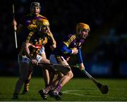 10 March 2019; Kevin Foley of Wexford in action against Conor Delaney of Kilkenny during the Allianz Hurling League Division 1A Round 5 match between Wexford and Kilkenny at Innovate Wexford Park in Wexford. Photo by Ray McManus/Sportsfile
