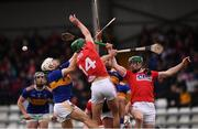 10 March 2019; Joe O'Dwyer, left, and James Barry of Tipperary in action against Aidan Walsh, 14, and Seamus Harnedy of Cork during the Allianz Hurling League Division 1A Round 5 match between Cork and Tipperary at Páirc Uí Rinn in Cork. Photo by Stephen McCarthy/Sportsfile