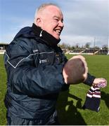 10 March 2019; Westmeath manager Joe Quaid celebrates following the Allianz Hurling League Division 2A Final match between Westmeath and Kerry at Cusack Park in Ennis, Clare. Photo by Sam Barnes/Sportsfile