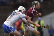 10 March 2019; Pádraic Mannion of Galway in action against Shane Bennett of Waterford during the Allianz Hurling League Division 1B Round 5 match between Waterford and Galway at Walsh Park in Waterford. Photo by Piaras Ó Mídheach/Sportsfile