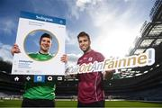 11 March 2019; Limerick hurler Declan Hannon, left, and Galway footballer Paul Conroy during the Do Chlub, Do Chontae – Cuir Ort An Fáinne photocall at Croke Park in Dublin. Photo by Stephen McCarthy/Sportsfile