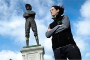 11 March 2019; Jockey Rachael Blackmore in attendance as Irish bookmaker Paddy Power unveil their 25-foot-tall 'Fearless Jockey' statue, celebrating the bravery of female jockeys riding at the Cheltenham Festival, and based on Tipperary-born leading rider Rachael Blackmore who hopes to join the honour roll of winning jockeys this week at Cheltenham in England. Photo by David Fitzgerald/Sportsfile