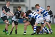 11 March 2019; Harry Rigney of Newbridge College is tackled by Greg Barron of Blackrock College during the Bank of Ireland Leinster Rugby Schools Junior Cup semi-final match between Newbridge College and Blackrock College at Energia Park in Donnybrook, Dublin. Photo by Harry Murphy/Sportsfile
