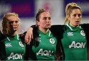 9 March 2019; Kathryn Dane, left, Nicole Fowley, centre, and Alison Miller of Ireland during the Women's Six Nations Rugby Championship match between Ireland and France at Energia Park in Donnybrook, Dublin. Photo by Ramsey Cardy/Sportsfile