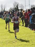 9 March 2019; Antoine Rouette of Wesley College, Dublin, in the Minor Boys event during the Irish Life Health All Ireland Schools Cross Country at Clongowes Wood College in Clane, Co Kildare. Photo by Piaras Ó Mídheach/Sportsfile