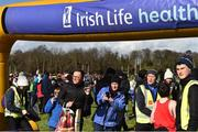9 March 2019; Spectators during the Irish Life Health All Ireland Schools Cross Country at Clongowes Wood College in Clane, Co Kildare. Photo by Piaras Ó Mídheach/Sportsfile