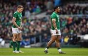 10 March 2019; Garry Ringrose, left, and Bundee Aki of Ireland during the Guinness Six Nations Rugby Championship match between Ireland and France at the Aviva Stadium in Dublin. Photo by Ramsey Cardy/Sportsfile