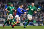 10 March 2019; Romain Ntamack of France during the Guinness Six Nations Rugby Championship match between Ireland and France at the Aviva Stadium in Dublin. Photo by Ramsey Cardy/Sportsfile
