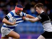11 March 2019; Tom Brigg of Blackrock College in action against Calum Corcoran of Newbridge College during the Bank of Ireland Leinster Rugby Schools Junior Cup semi-final match between Newbridge College and Blackrock College at Energia Park in Donnybrook, Dublin. Photo by Harry Murphy/Sportsfile