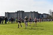 9 March 2019; Action from the Junior Girls event during the Irish Life Health All Ireland Schools Cross Country at Clongowes Wood College in Clane, Co. Kildare. Photo by Piaras Ó Mídheach/Sportsfile