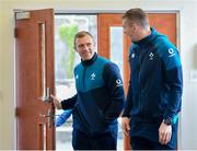 12 March 2019; Keith Earls, left, and Chris Farrell during an Ireland Rugby gym session at Carton House in Maynooth, Kildare. Photo by Ramsey Cardy/Sportsfile