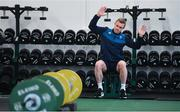 12 March 2019; Keith Earls during an Ireland Rugby gym session at Carton House in Maynooth, Kildare. Photo by Ramsey Cardy/Sportsfile