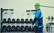 12 March 2019; Jonathan Sexton during an Ireland Rugby gym session at Carton House in Maynooth, Kildare. Photo by Ramsey Cardy/Sportsfile