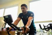 12 March 2019; Bundee Aki during an Ireland Rugby gym session at Carton House in Maynooth, Kildare. Photo by Ramsey Cardy/Sportsfile