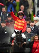12 March 2019; Jockey Ruby Walsh celebrates as he enters the winners enclosure after winning the Sky Bet Supreme Novices' Hurdle on Klassical Dream on Day One of the Cheltenham Racing Festival at Prestbury Park in Cheltenham, England. Photo by Seb Daly/Sportsfile