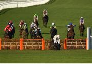 12 March 2019; Benie Des Dieux, with Ruby Walsh up, falls at the last during the OLBG Mares' Hurdle on Day One of the Cheltenham Racing Festival at Prestbury Park in Cheltenham, England. Photo by Seb Daly/Sportsfile