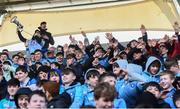 12 March 2019; St Michael's College supporters celebrate following  the Bank of Ireland Leinster Rugby Schools Junior Cup Semi-Final match between Gonzaga College and St Michael's College at Energia Park in Donnybrook, Dublin. Photo by Eóin Noonan/Sportsfile