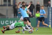 12 March 2019; Matthew Victory of St Michael's College in action against Hugo Neville of Gonzaga College during the Bank of Ireland Leinster Rugby Schools Junior Cup Semi-Final match between Gonzaga College and St Michael's College at Energia Park in Donnybrook, Dublin. Photo by Eóin Noonan/Sportsfile