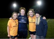 8 March 2019; Fingallians club-mates, from left, Emma Colgan, Emer Ni Eafa, Sinead Finnegan of DCU and Selector Fiona Hudson following the Gourmet Food Parlour O'Connor Shield Final match between NUI Galway and Dublin City University at TU Dublin Broombridge Sports Grounds in Dublin. Photo by Harry Murphy/Sportsfile