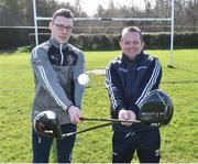 13 March 2019; Wexford hurling manager Davy Fitzgerald, right, and Waterford hurler Kieran Bennett at today's launch of the 20th annual KN Group All-Ireland GAA Golf Challenge in St. Jude's GAA club. On August 9 and 10, the two-day event takes place in Concra Wood and Nuremore Golf Clubs in County Monaghan. Golfers will congregate to represent their GAA clubs in their hope of claiming All-Ireland glory while raising funds for much-needed GAA-associated charities such as Raharney youngster Fionn McAnaney. For more information follow @GolfGAA on Twitter or All-Ireland GAA Golf Challenge on Facebook. Photo by Matt Browne/Sportsfile